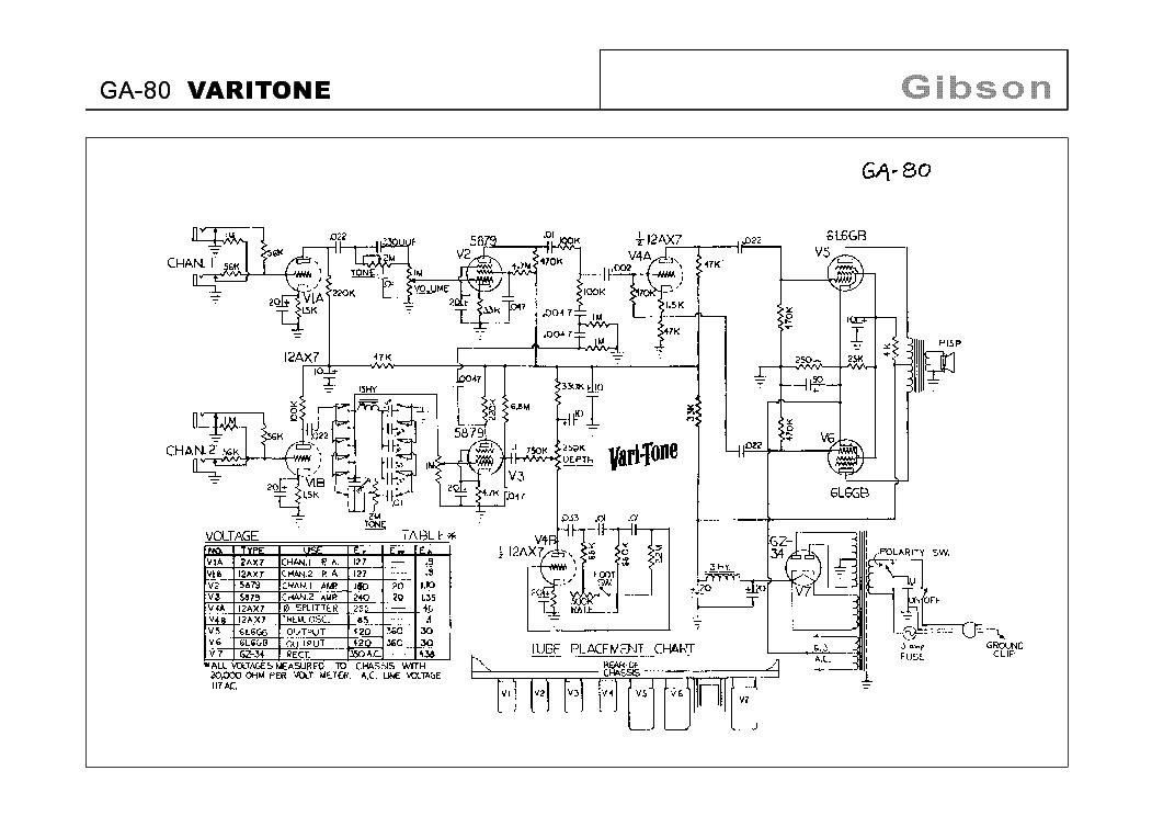 b varitone wiring diagram gibson ga-80 varitone schematic service manual download, schematics, eeprom, repair info for ... varitone wiring diagram