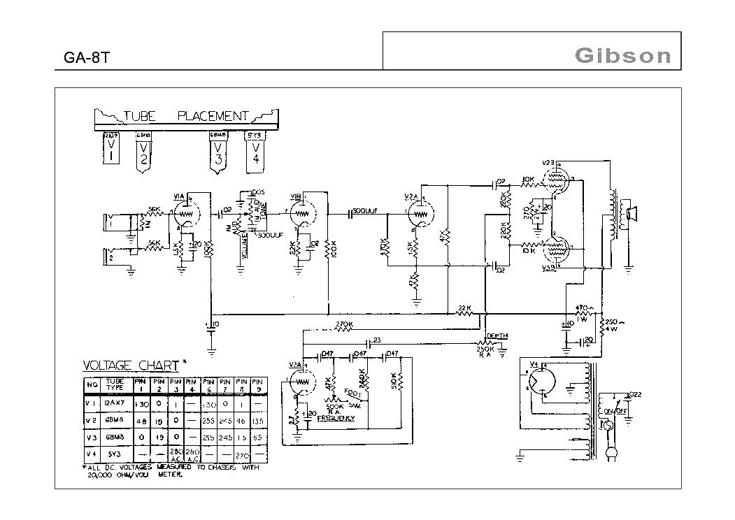 gibson ga 5 schematic  gibson  get free image about wiring