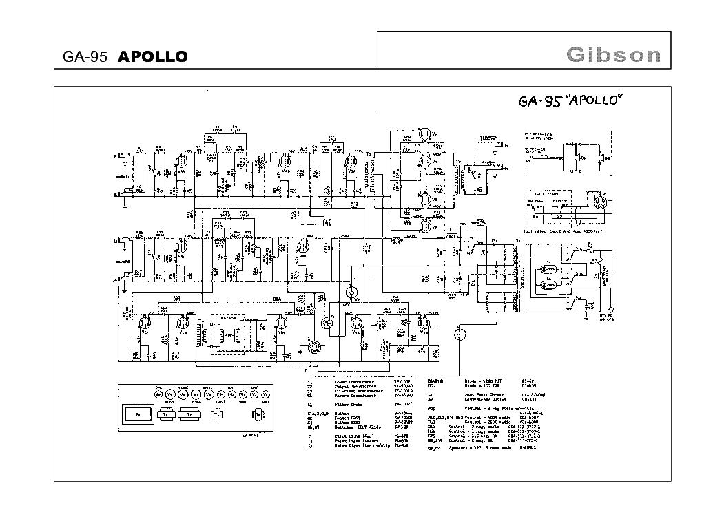 GIBSON GA-95 APOLLO SCHEMATIC Service Manual download, schematics ...
