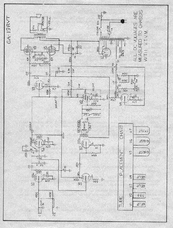 gibson ga 19rvt amplifier schematic service manual