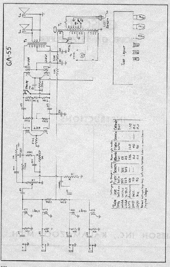 gibson ga 55 amplifier schematic service manual download