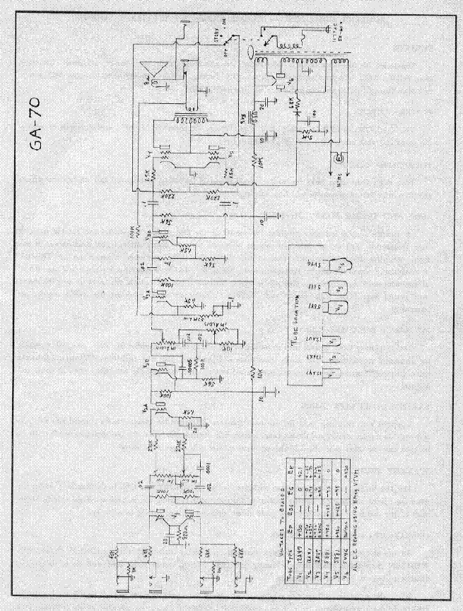gibson ga 70 amplifier schematic service manual download  schematics  eeprom  repair info for