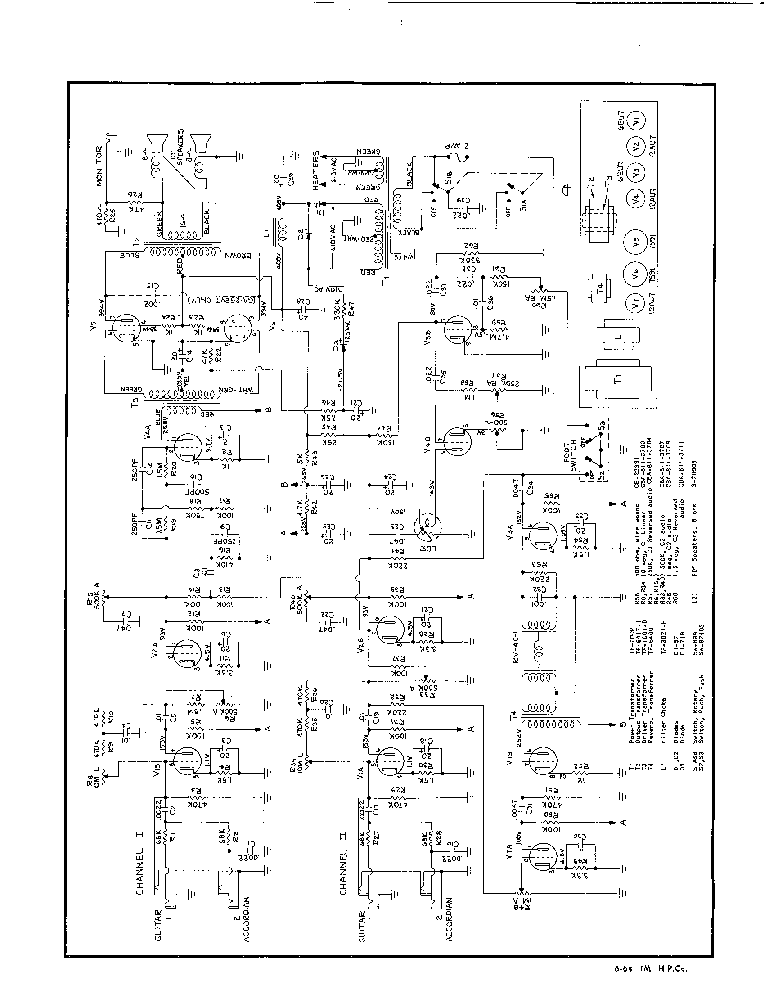 Gibson Hawk 7591 Amplifier Sch Service Manual Download Schematics