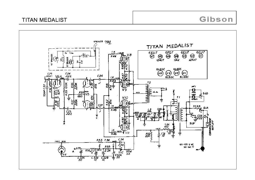 gibson titan medalist schematic service manual download