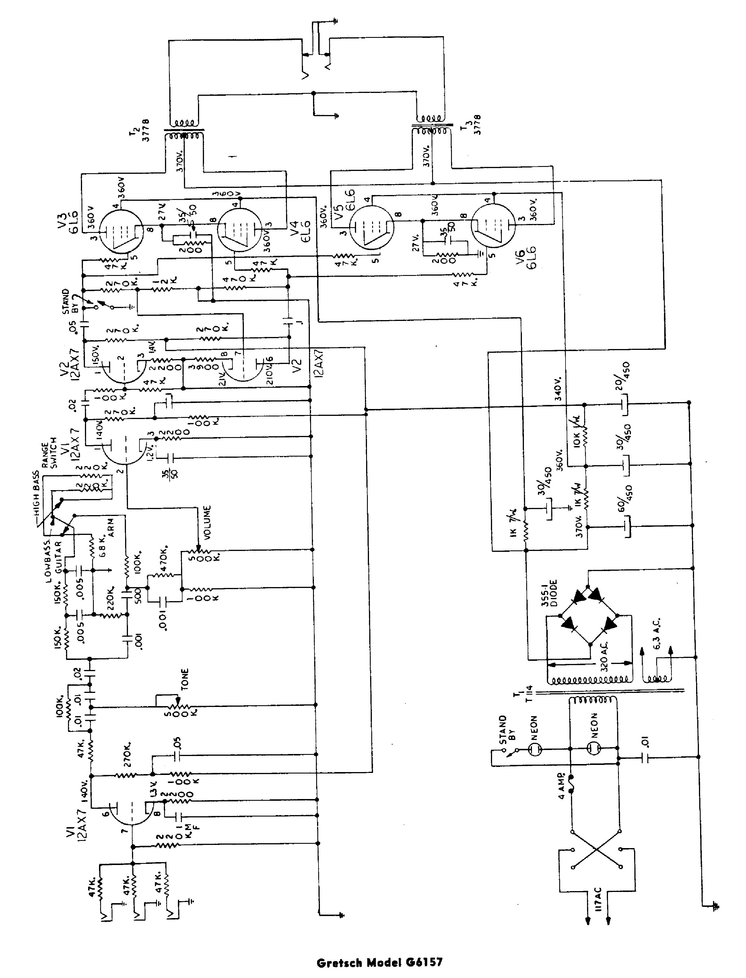 GRETSCH 6157 SCH service manual (1st page)