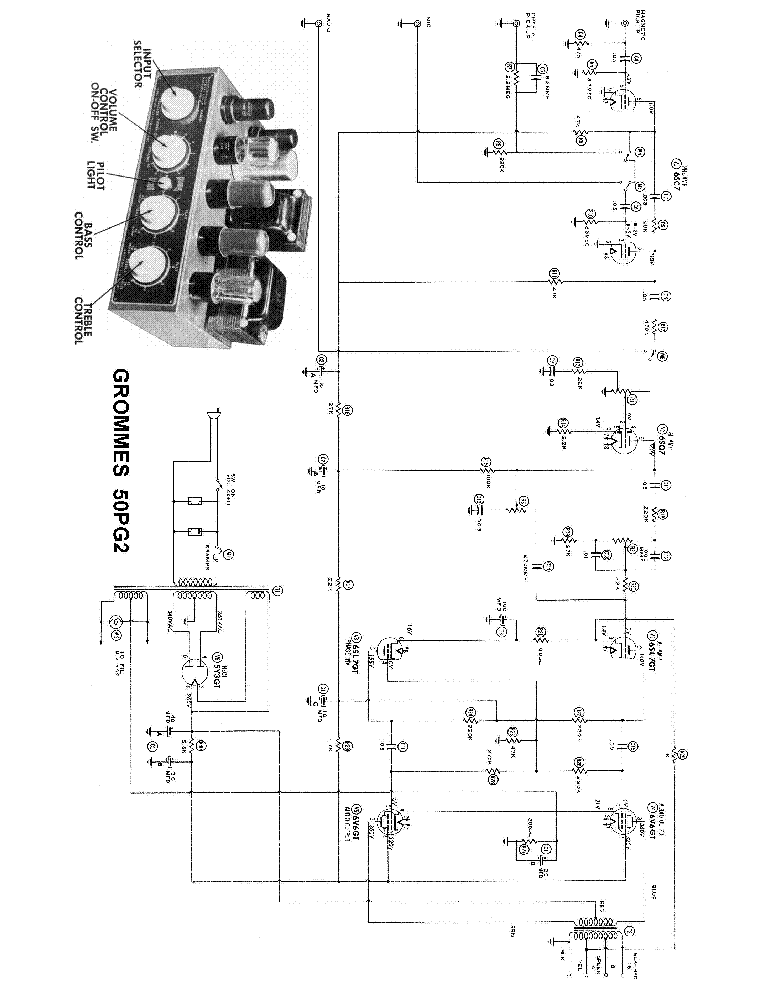grommes 50pg2 power amplifier sch service manual download  schematics  eeprom  repair info for