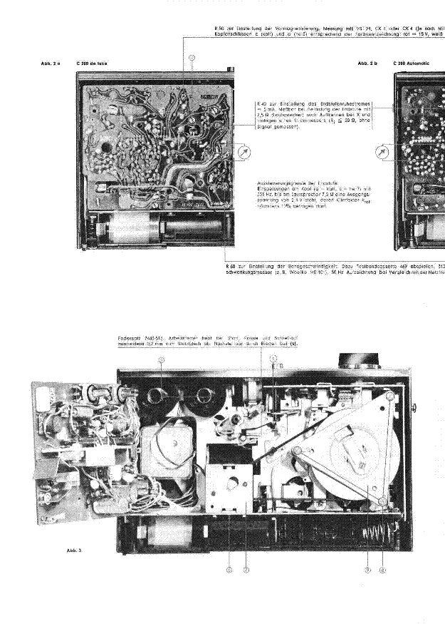 GRUNDIG C200 DE-LUXE service manual (2nd page)