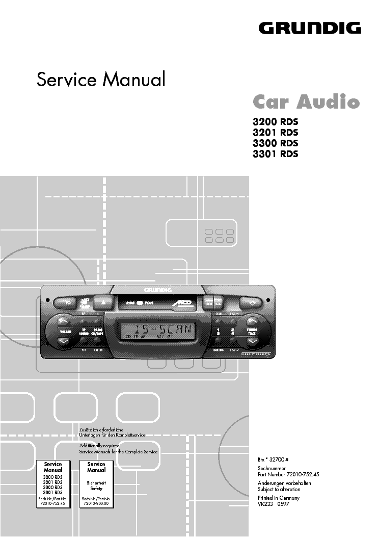 grundig car radio 3200 3201 3300 3301 rds service manual download rh elektrotanya com Grundig TV Grundig Shortwave Radios