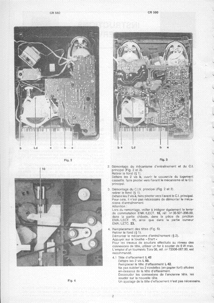Grundig Cr560 Cr590 Fr Service Manual Download  Schematics