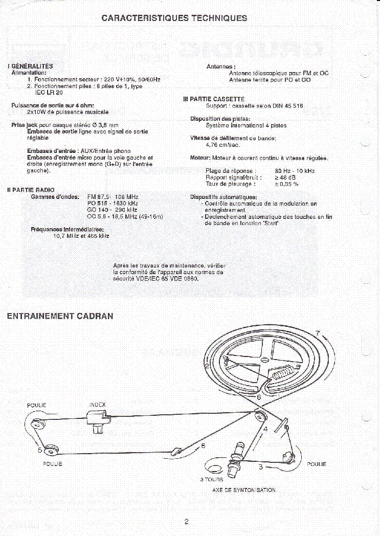 GRUNDIG PARTY CENTER 2300 service manual (2nd page)