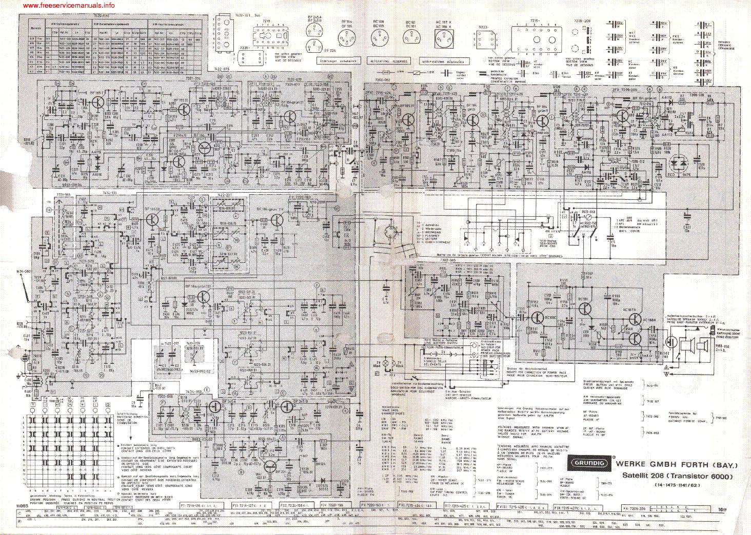 Grundig A5000 Sch Service Manual Download  Schematics