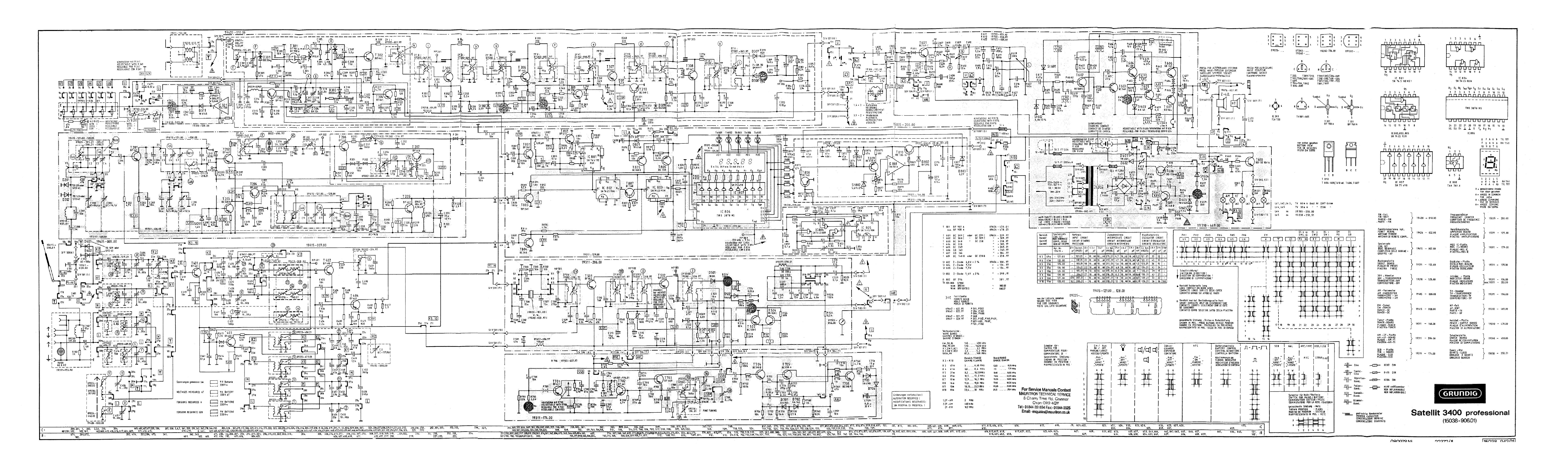 Grundig Satellit 3400 Sch Service Manual Download  Schematics  Eeprom  Repair Info For
