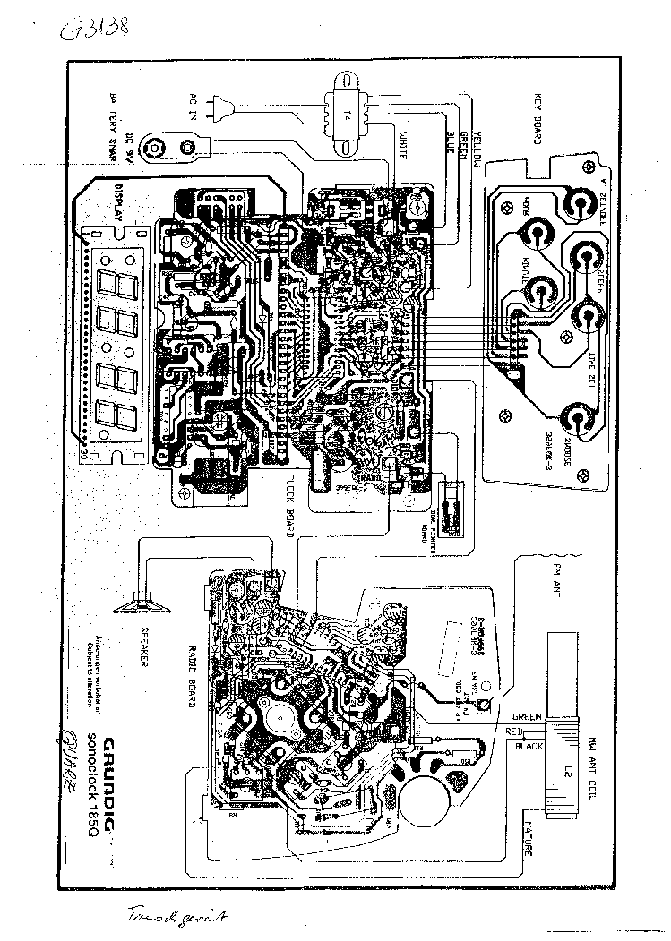clock electrical schematics