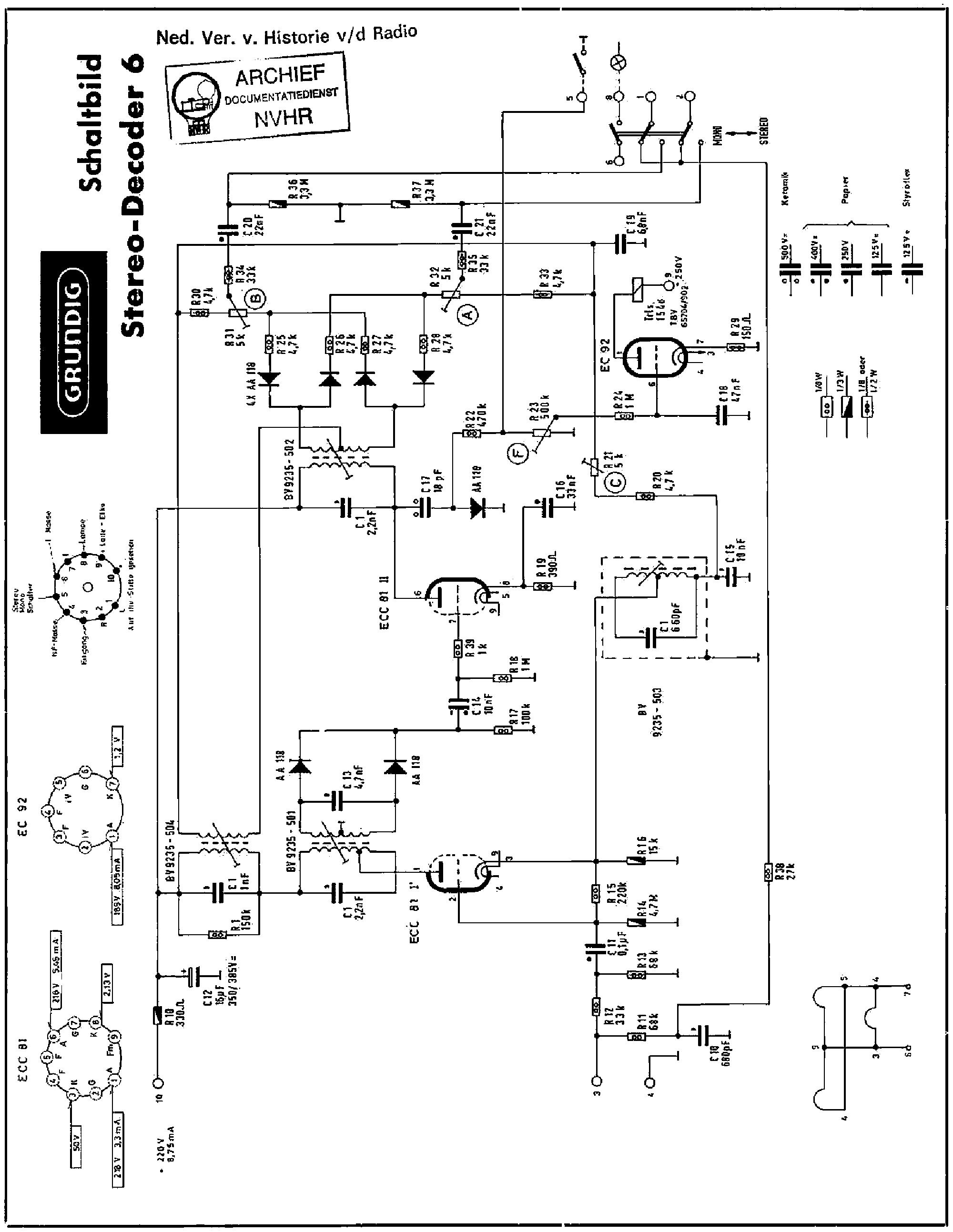 Grundig 3045w 3d 6064w 6065w Am Fm Radio Receiver Sch Service Clarion Speaker Wiring Diagram Free Picture Schematic