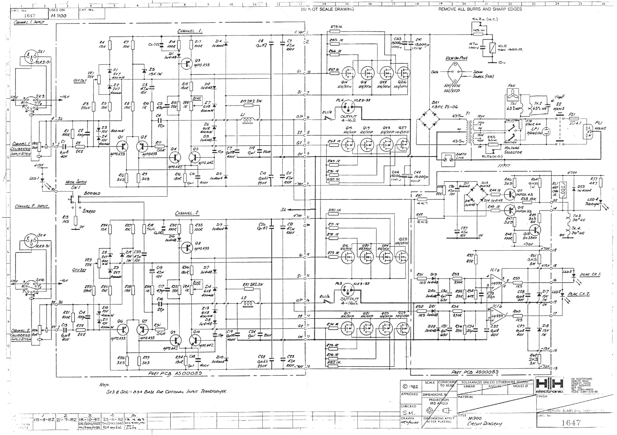 HH-ELECTRONIC M900 Service Manual download, schematics, eeprom ...