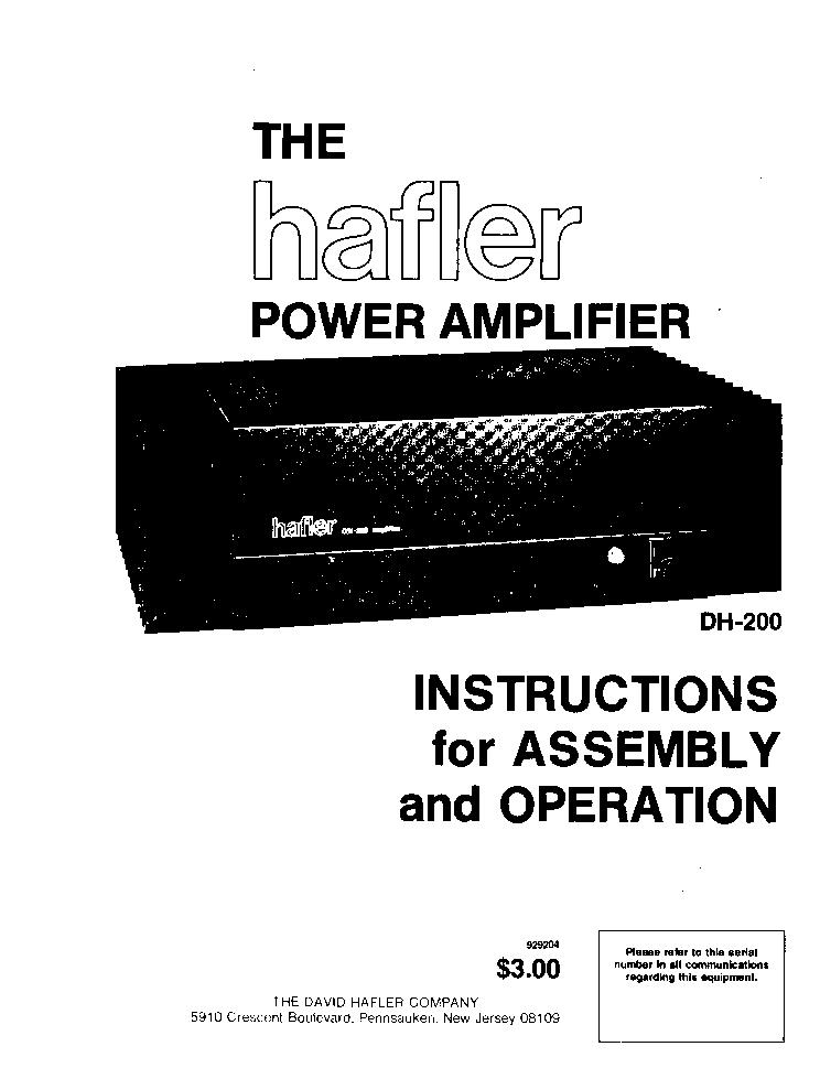 Hafler dh-220 power amplifier – acid-house.