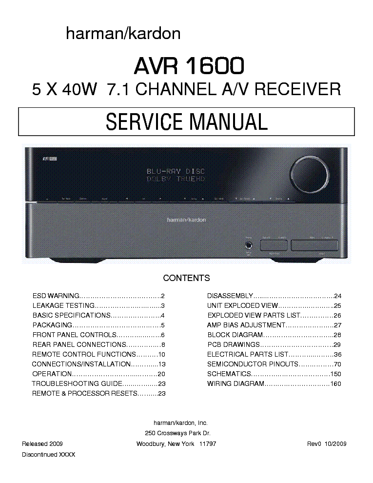 harman kardon avr 1600 manual pdf