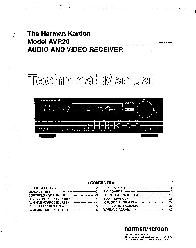 harman kardon avr 20 a v receiver service manual download rh elektrotanya com