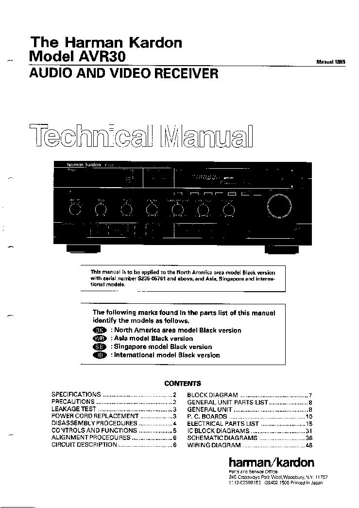 harman kardon avr 30 a v receiver service manual download rh elektrotanya com harman kardon manual onyx harman kardon manual onyx