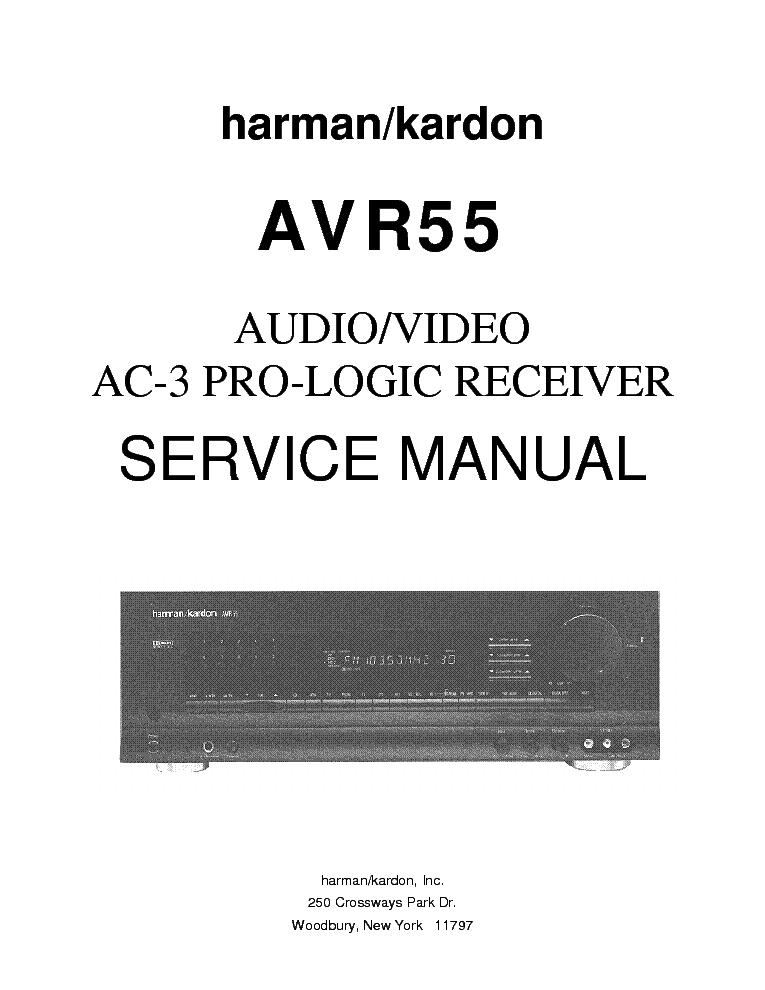 harman kardon avr 55 a v ac 3 pro logic receiver service manual rh elektrotanya com Logic 2014 Goats 3