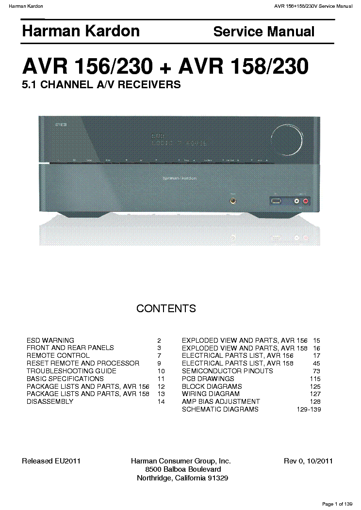 harman kardon avr 144 manual