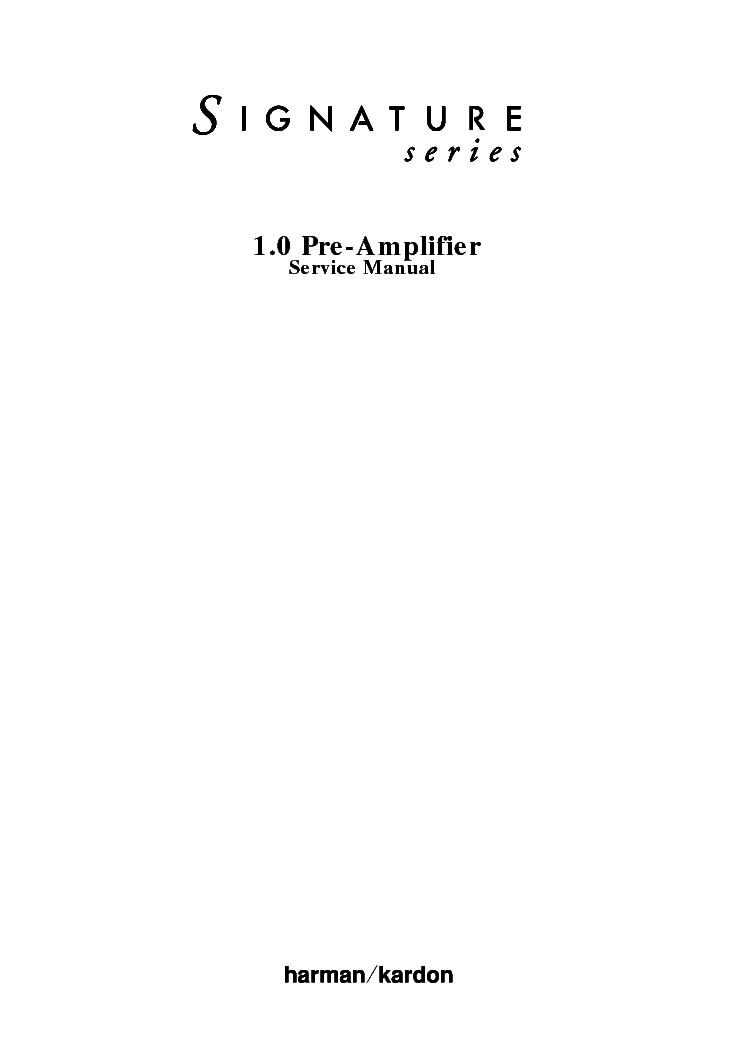 HARMAN KARDON CITATION-X-1 SCH Service Manual download, schematics