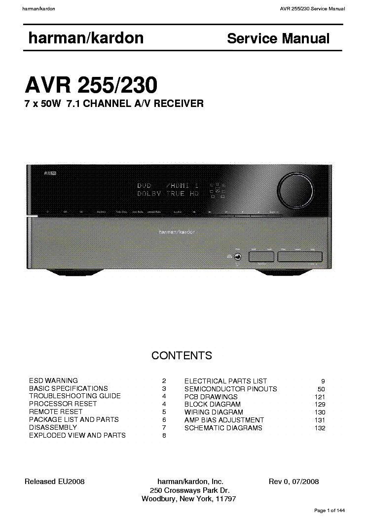 harman kardon avr 255 230l service manual harman kardon avr 255 230l service manual 1st page
