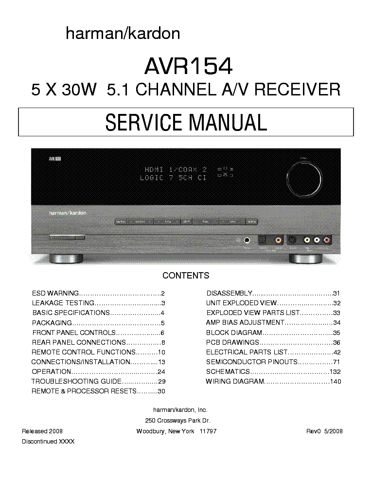harman kardon avr154 sm service manual download schematics eeprom rh elektrotanya com Harman Kardon AVR 2600 Manual Harman Kardon AVR 3700
