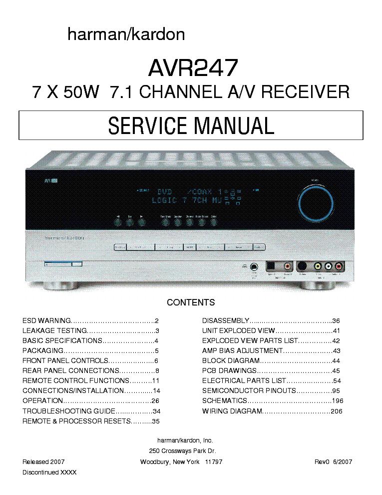 harman kardon avr247 sm service manual download schematics eeprom rh elektrotanya com Harman Kardon AVR 1650 Harman Kardon AVR 2700