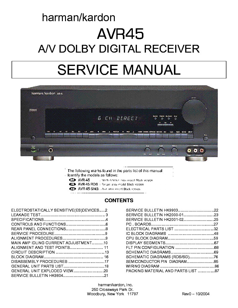 harman_kardon_avr45_sm.pdf_1 harman kardon avr45 sm service manual download, schematics, eeprom  at webbmarketing.co
