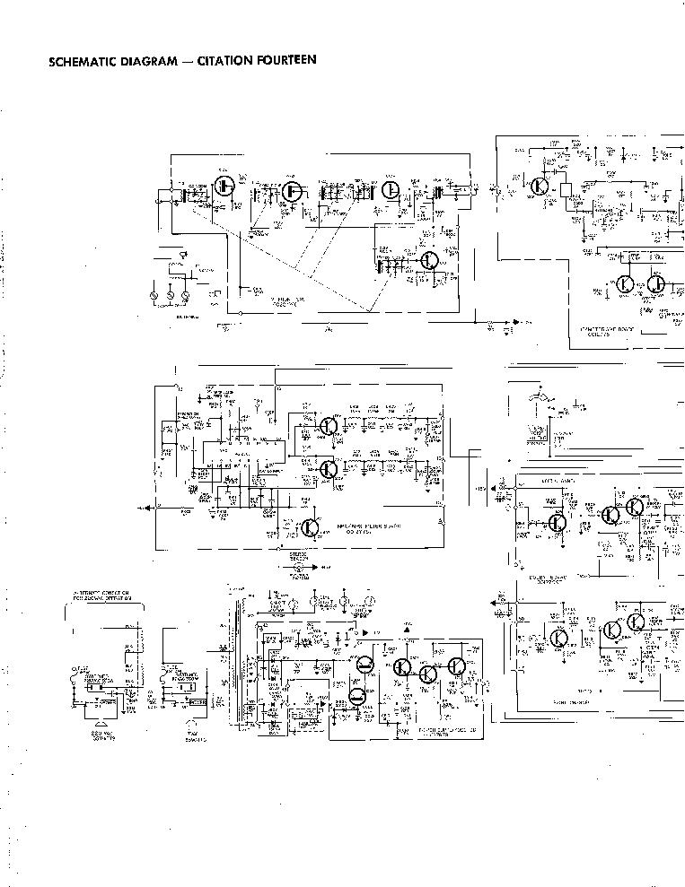 Harman Kardon Citation 14 Fm Stereo Tuner Sch Service Manual