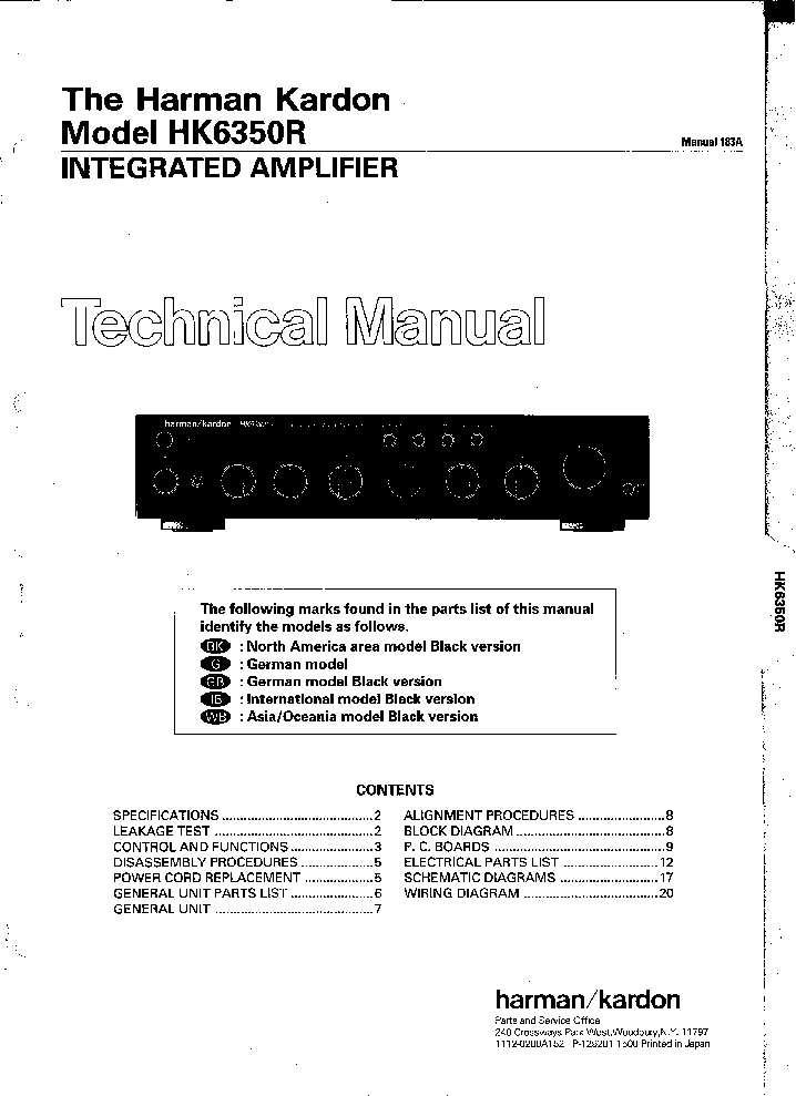 Hk avr 45 manual Harman Kardon Av Wiring Diagram on
