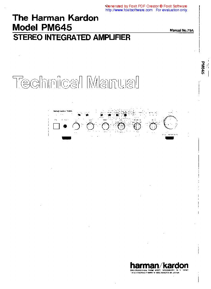 harman kardon sub ts7 service manual