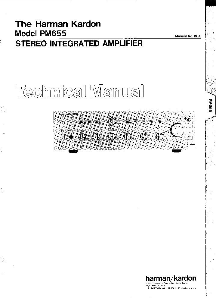 harman kardon festival 60 80 component audio system repair manual