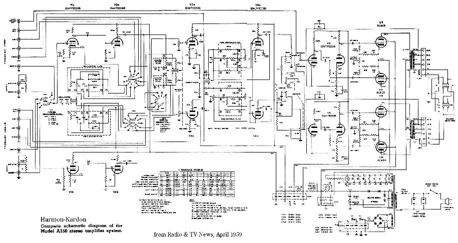 harmony h303b amp schematic