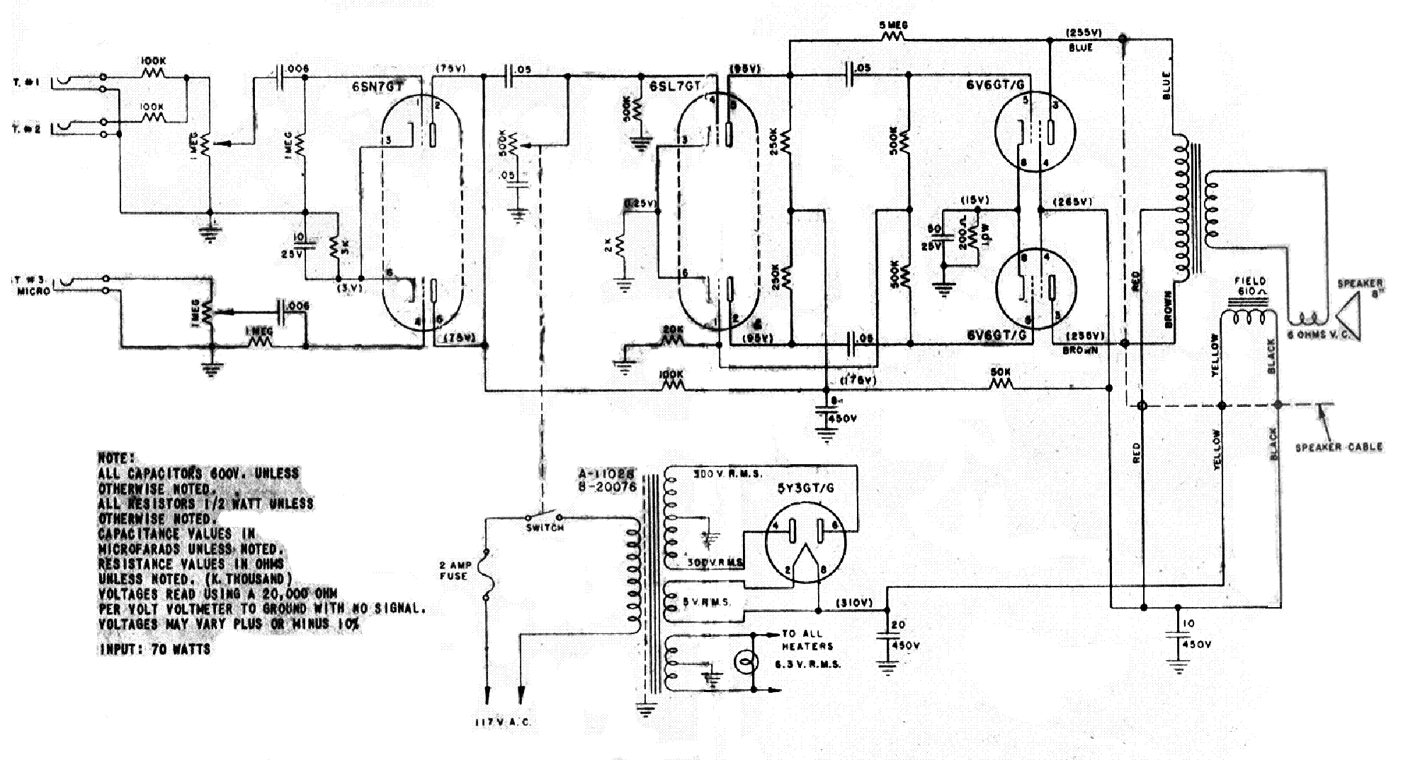 Harmony Amp Schematic - General Wiring Diagrams on
