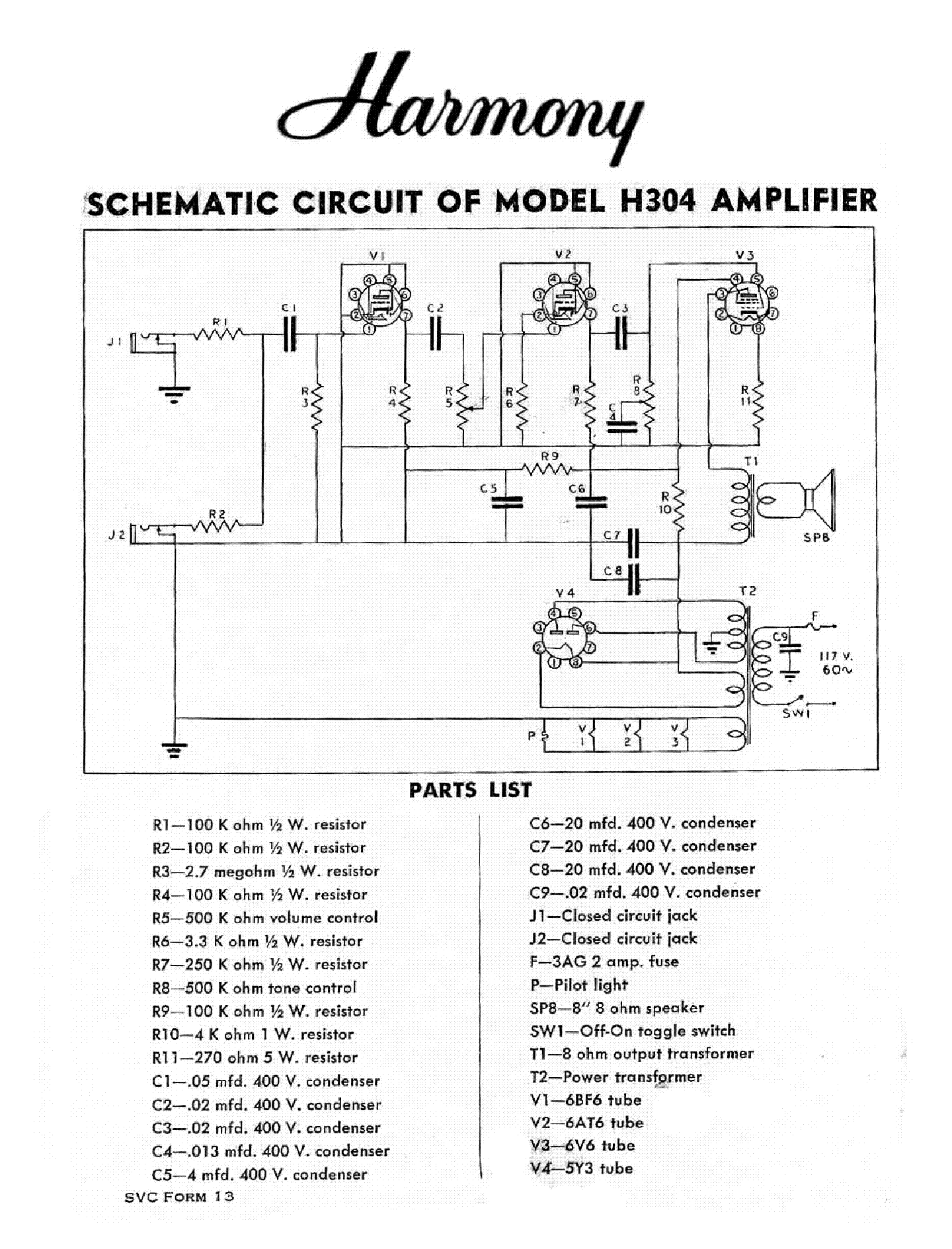 HARMONY H304 SCH service manual (1st page)