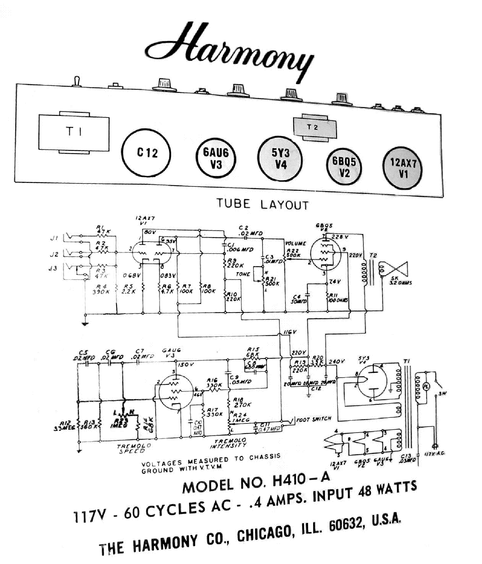 HARMONY H410A SCH service manual (1st page)
