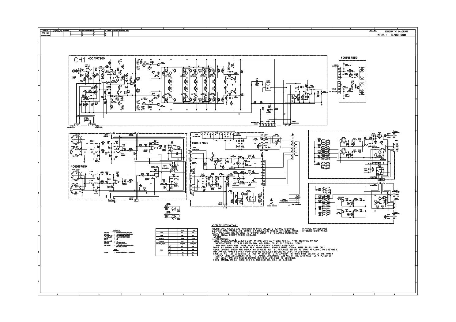 Samson S700 S1000 Sch Service Manual Download Schematics Eeprom Free 550 Wiring Diagram 1st Page