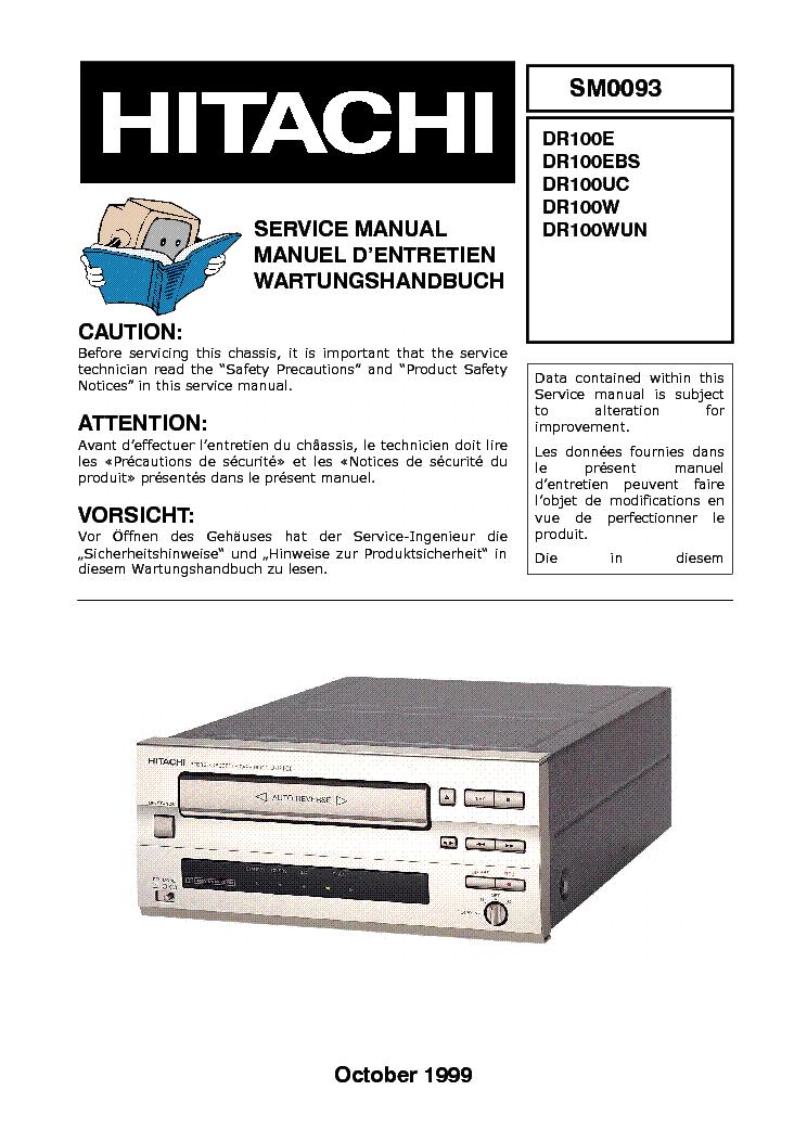 HITACHI DR100 SM Service Manual download, schematics, eeprom