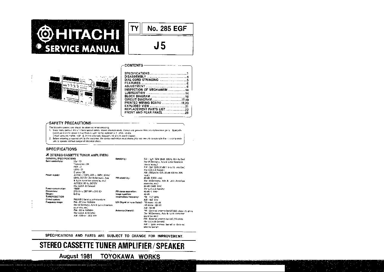 hitachi rar 3u1 user manual