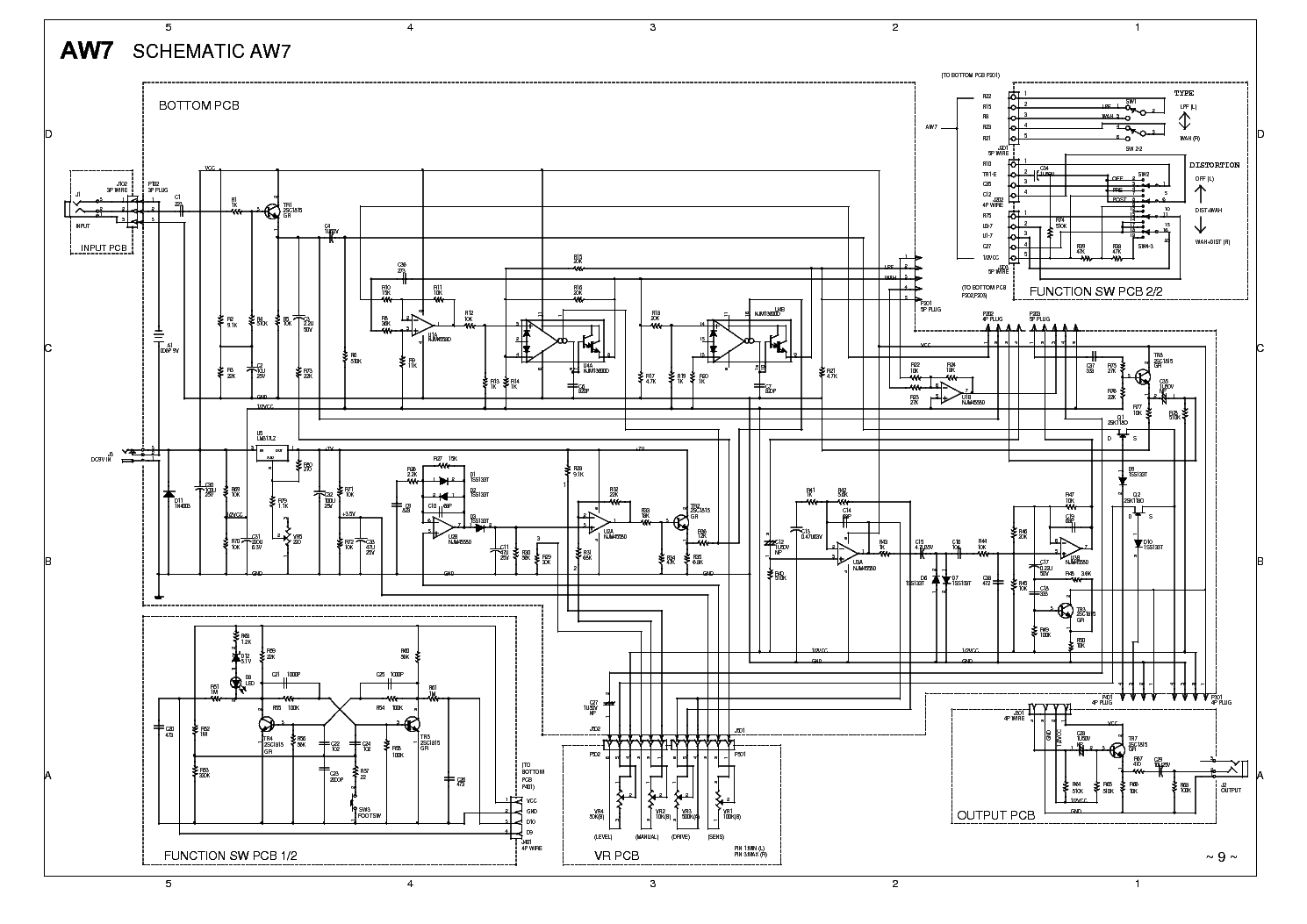 ibanez aw  schematic service manual