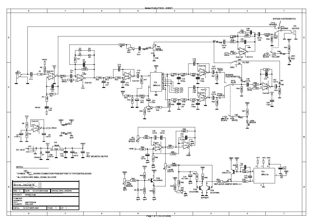 IBANEZ STL-SUPERTUBE SCH Service Manual download, schematics, eeprom
