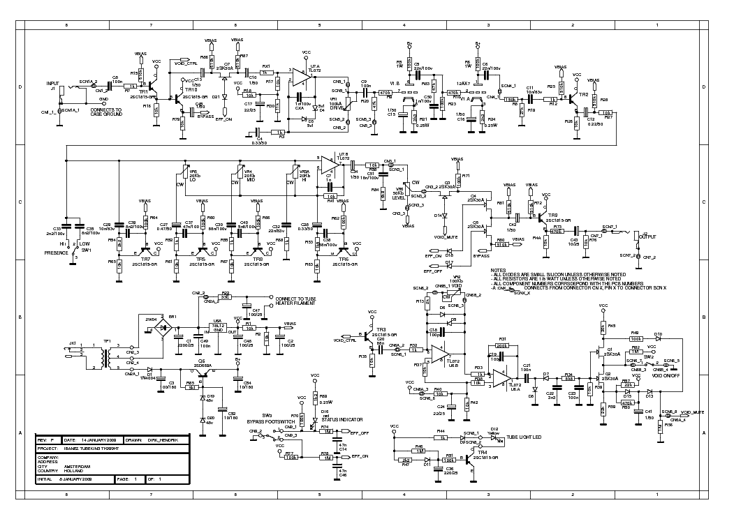 808 Tube Screamer Schematic