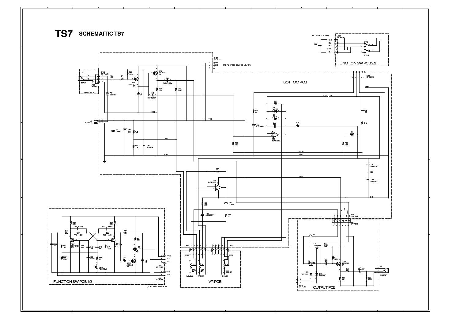 IBANEZ TS7 Service Manual download, schematics, eeprom, repair info