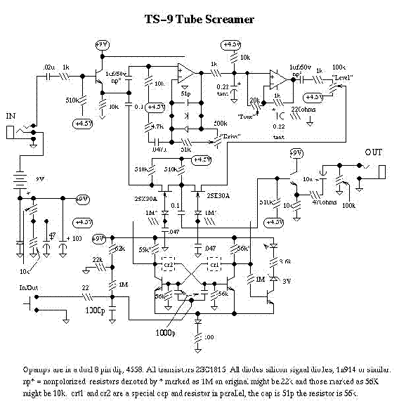 IBANEZ TS9 TUBE SCREAMER SCH Service Manual download