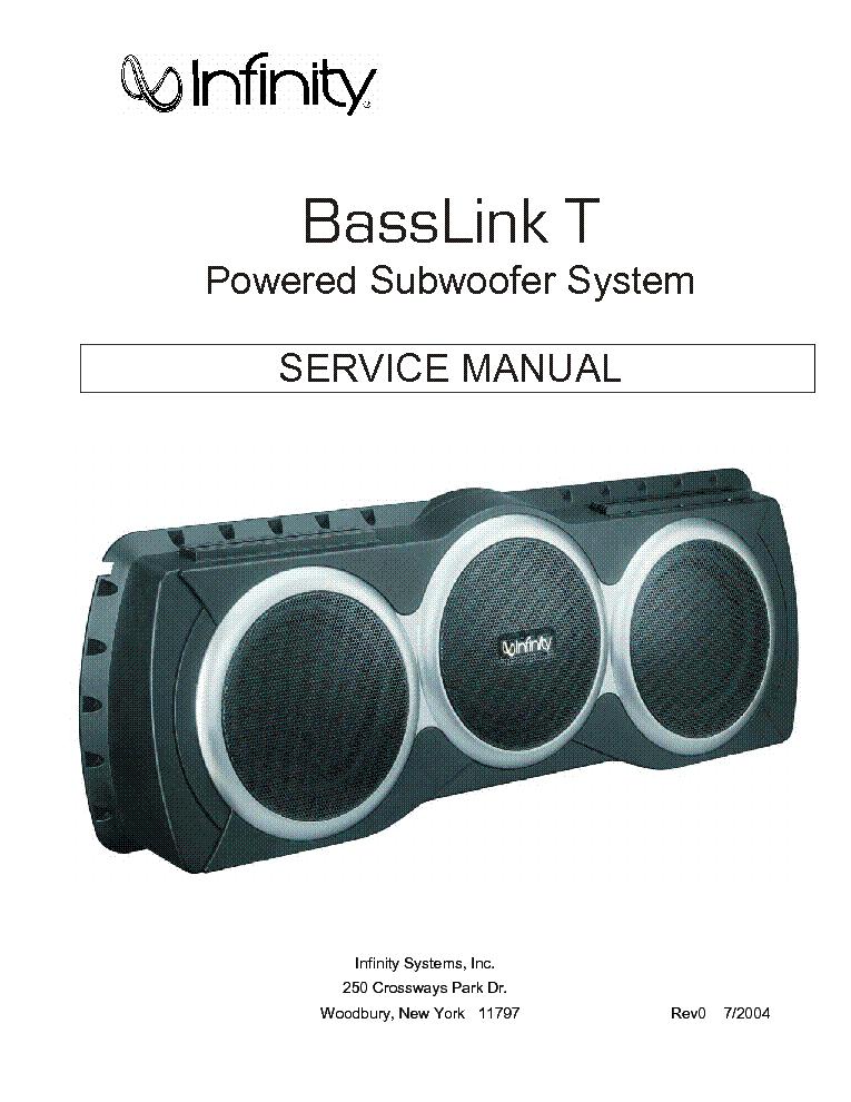 infinity basslink t sm service manual download schematics eeprom rh elektrotanya com infinity basslink ii manual infinity basslink manual pdf
