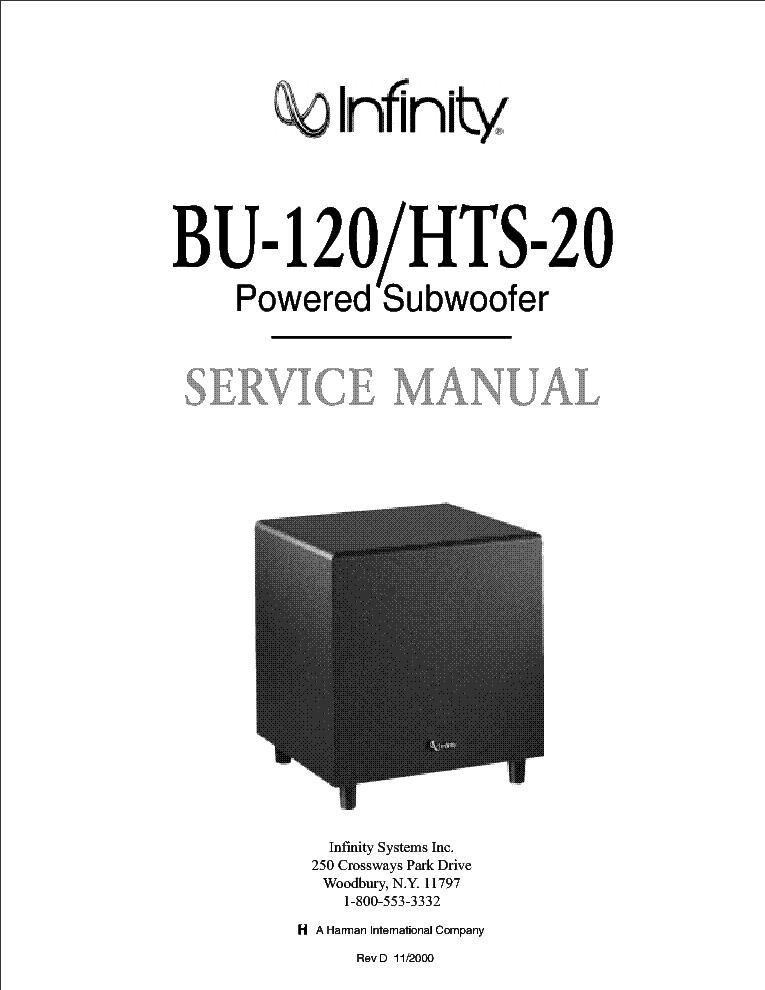 infinity bu 120 hts 20 rev d service manual download schematics rh elektrotanya com  infinity bu 120 service manual
