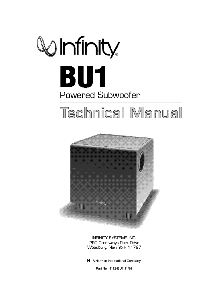infinity bu 1 manual daily instruction manual guides u2022 rh testingwordpress co infinity bu 80 powered subwoofer manual infinity bu-80 service manual