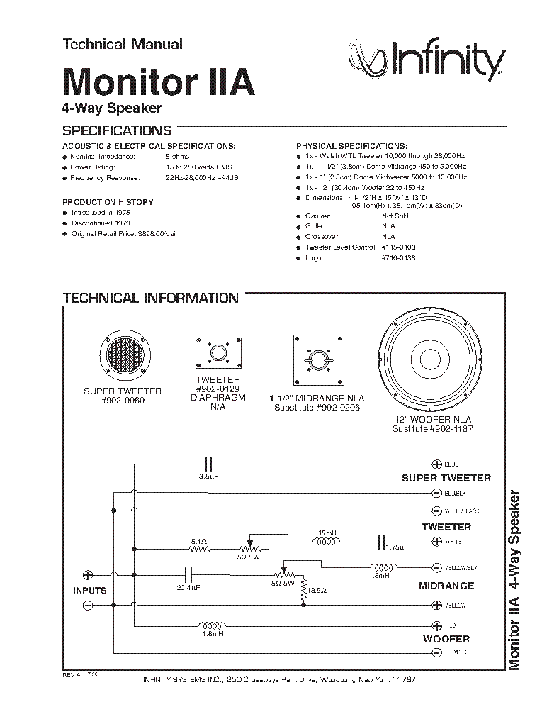 infinity ps-8 subwoofer service manual download, schematics, eeprom